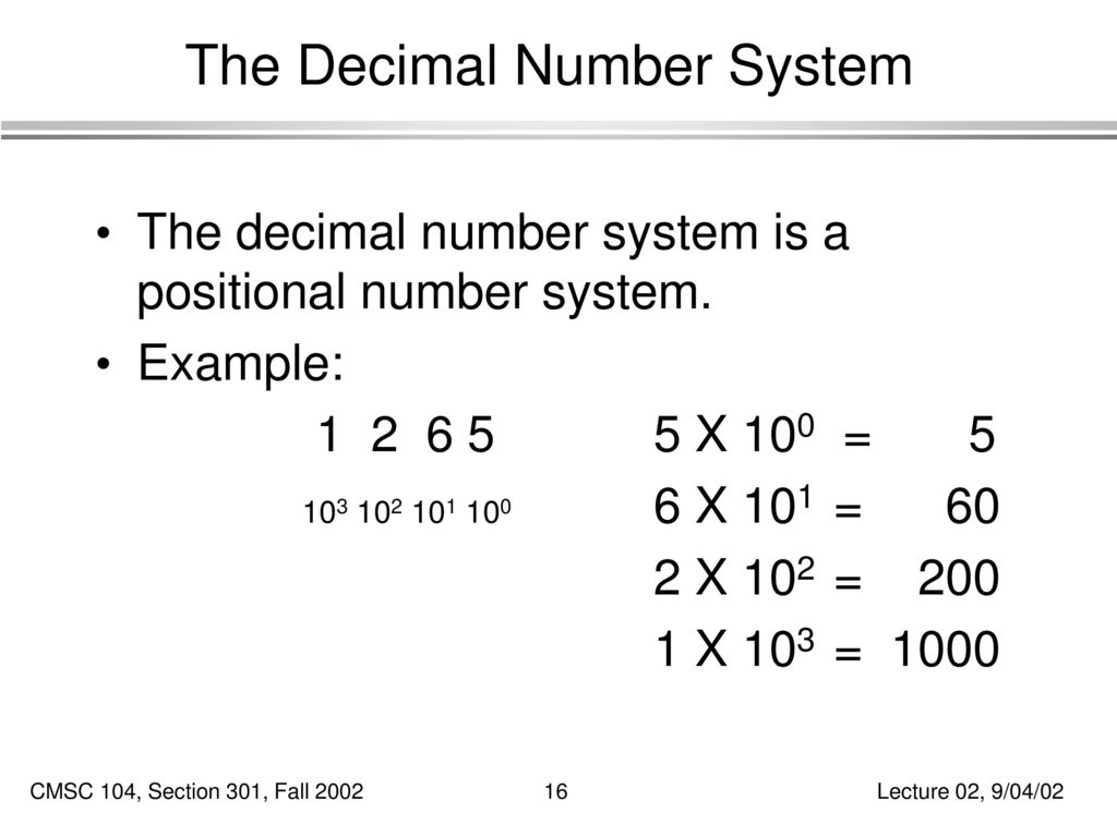 computer number system Perhaps the biggest drawback to using the binary numbering system for computer operations is that programmers in the various numbering systems is the number.
