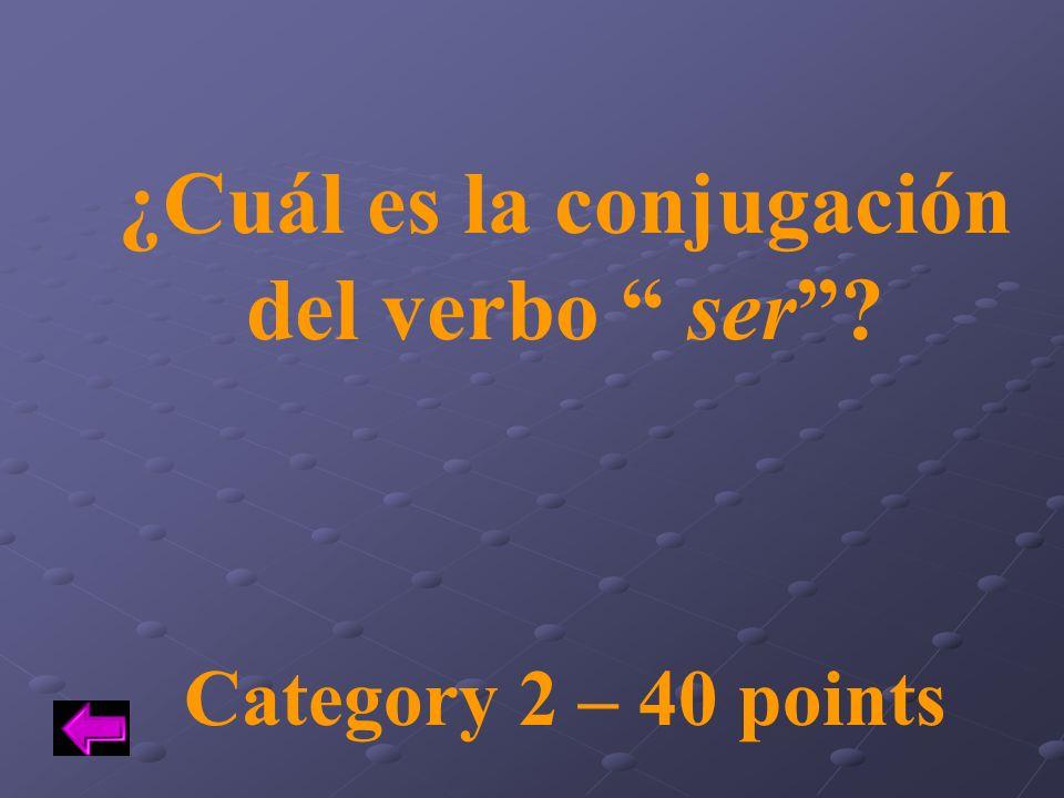 ¿Cuál es la conjugación del verbo ser
