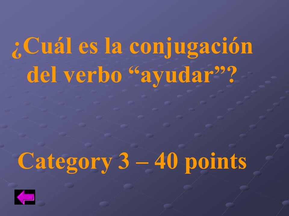 ¿Cuál es la conjugación