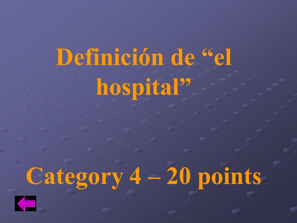 Definición de el hospital