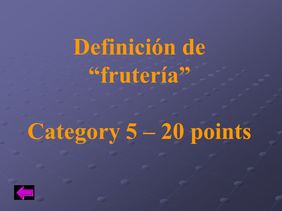 Definición de frutería