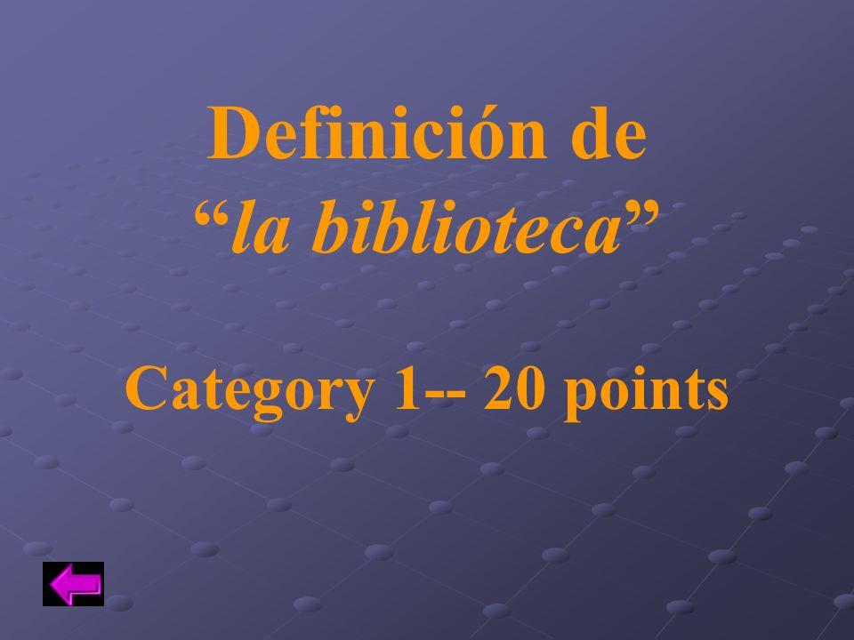 Definición de la biblioteca