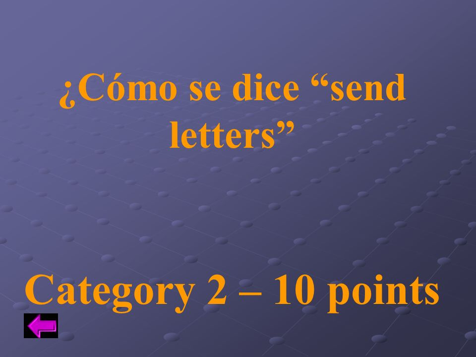 ¿Cómo se dice send letters