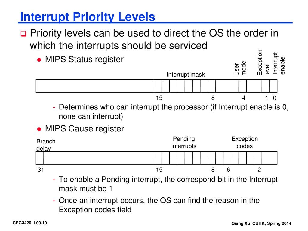 priority interrupt Answer to part i create a set of three priority interrupts and show how they are executed between times 0 and 80 ns assume: only.
