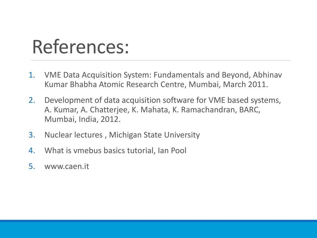 Principles Of Data Acquisition Experiment : Acquisition systems vme caen ppt download