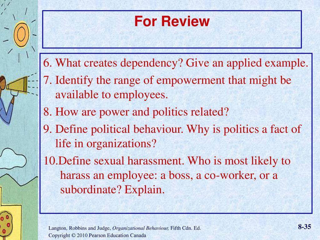 organizational politics example