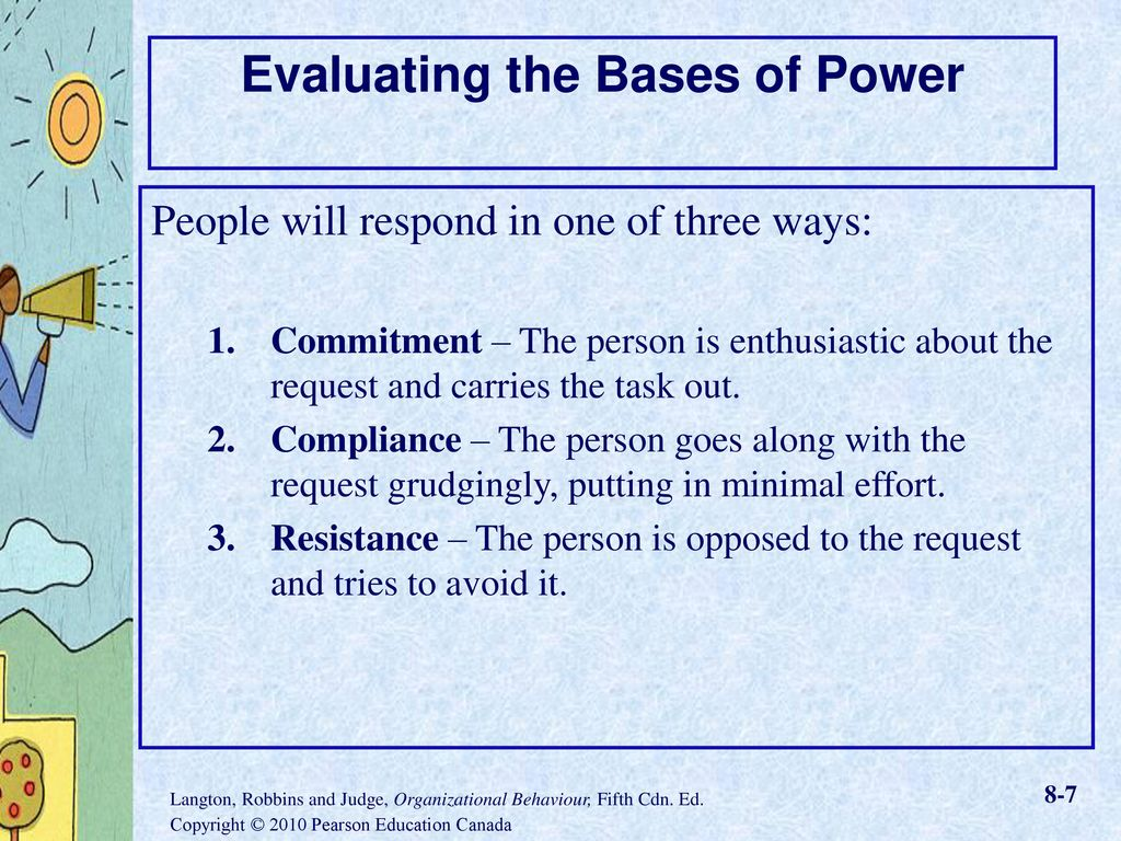 7 bases of power Leadership and the effective use of power harold coercive power bases its effectiveness on (mintzberg, 1983) what matters most in the effective use of power.
