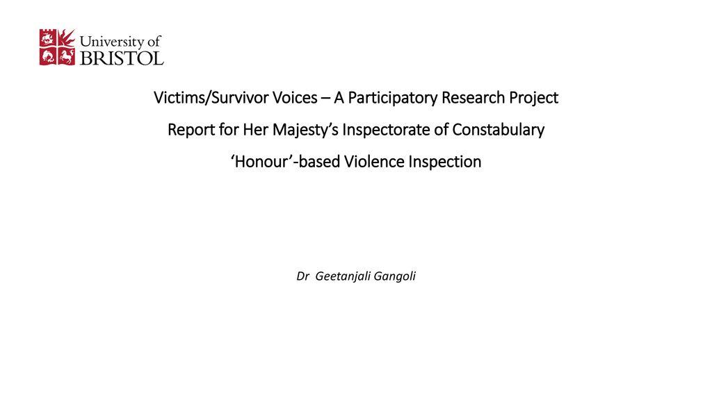 VictimsSurvivor Voices  A Participatory Research Project Report