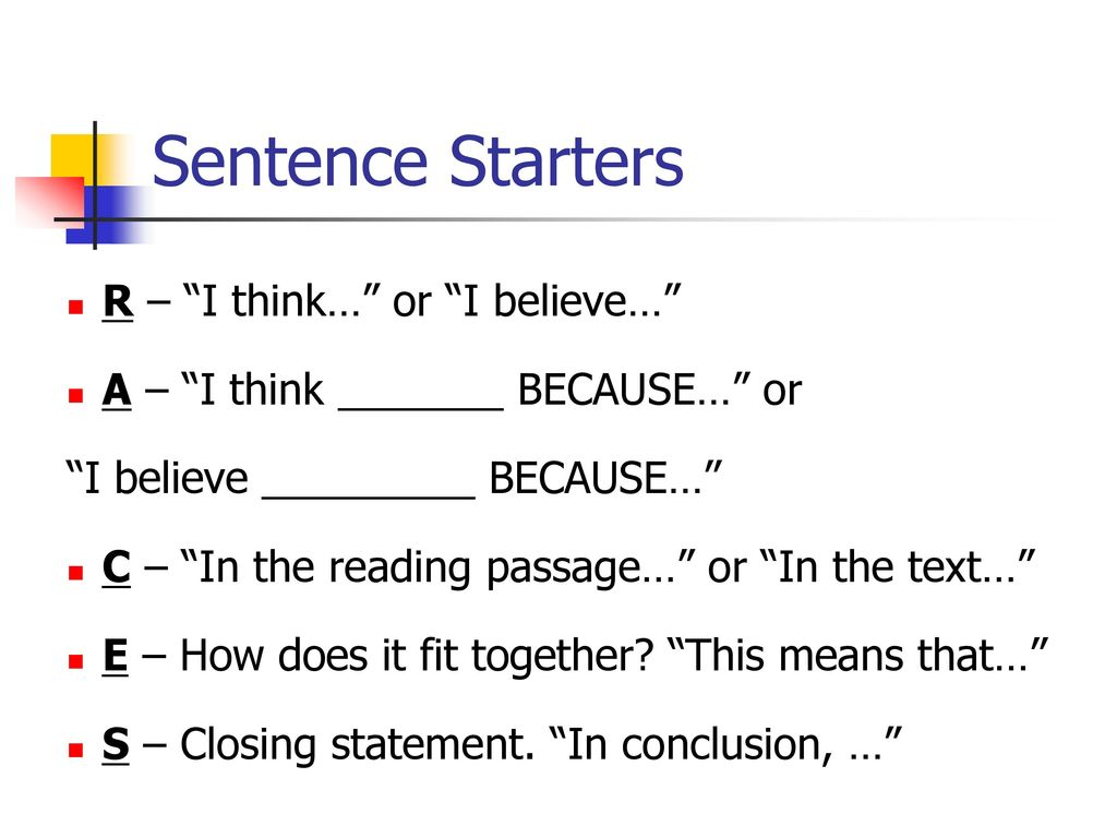 sentence starters for an essay Sentence starters: a sentence starter provides a frame for common uses for sentence starters are to help venn diagrams, cause-and-effect charts, essay.