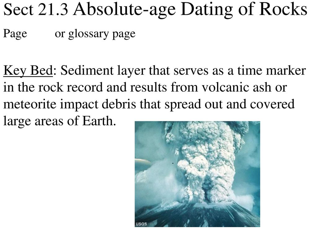 Of Age Rocks 21.3 Absolute Dating