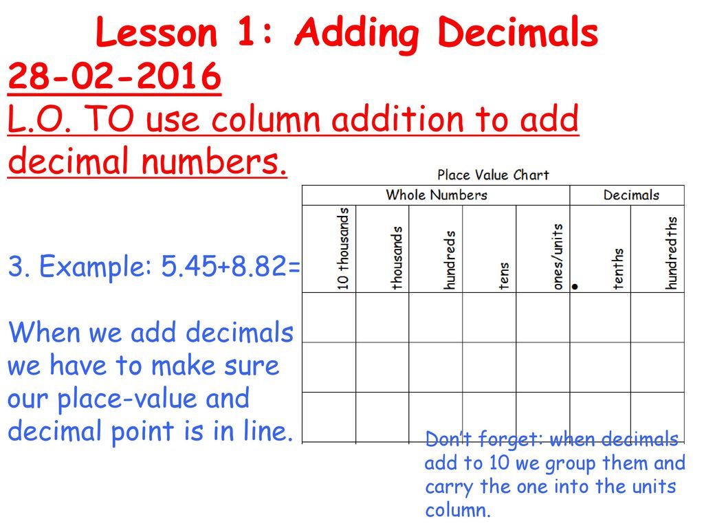 Draw two number lines from 0 ppt download 6 lesson nvjuhfo Gallery