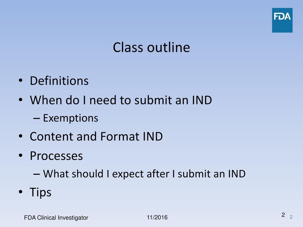 clinical investigator how do i put together an ind application, Presentation templates