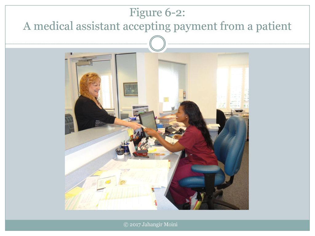 25 Figure 6 2: A Medical Assistant Accepting Payment From A Patient