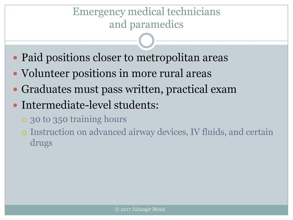53 Emergency Medical Technicians And Paramedics