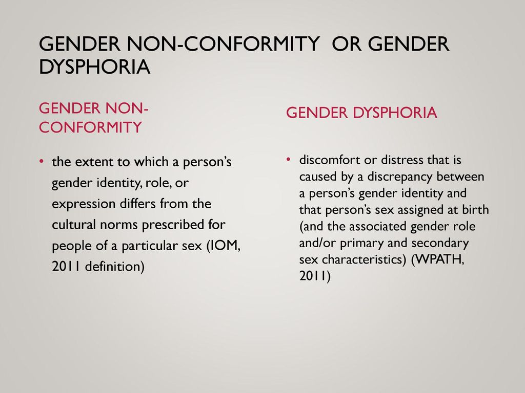 transgender conformity Gender nonconformity (also called gender nonconforming, gnc, or gender atypical) involves not conforming to a given culture's gender norm expectations gender nonconforming is a phrase for someone whose gender expression doesn't match their society's prescribed gender roles or gender norms for their gender identity.