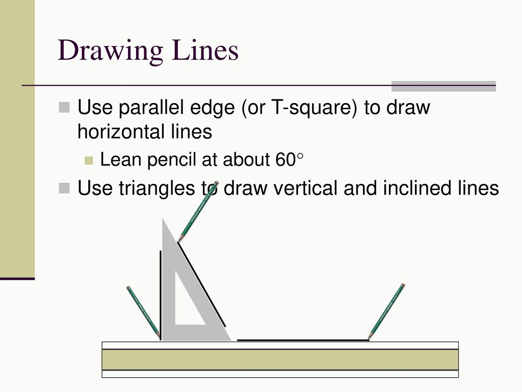 Drawing Parallel Lines With Set Squares : Demonstrate correct drawing procedures ppt video online