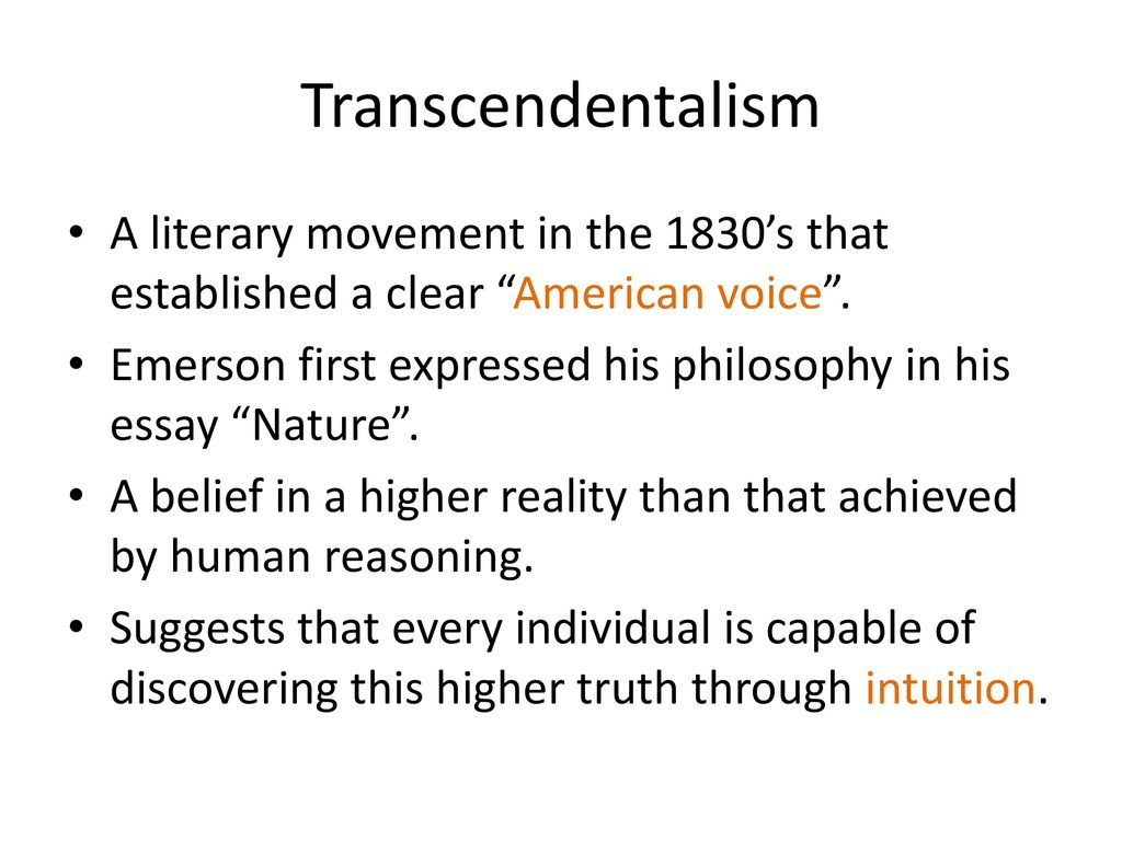 a critical analysis of transcendentalism in the works of henry david thoreau and ralph waldo emerson Thoreau, emerson, and transcendentalism buy share buy home literature introduction to the times ralph waldo emerson life and background of emerson summary and analysis major themes henry david thoreau.