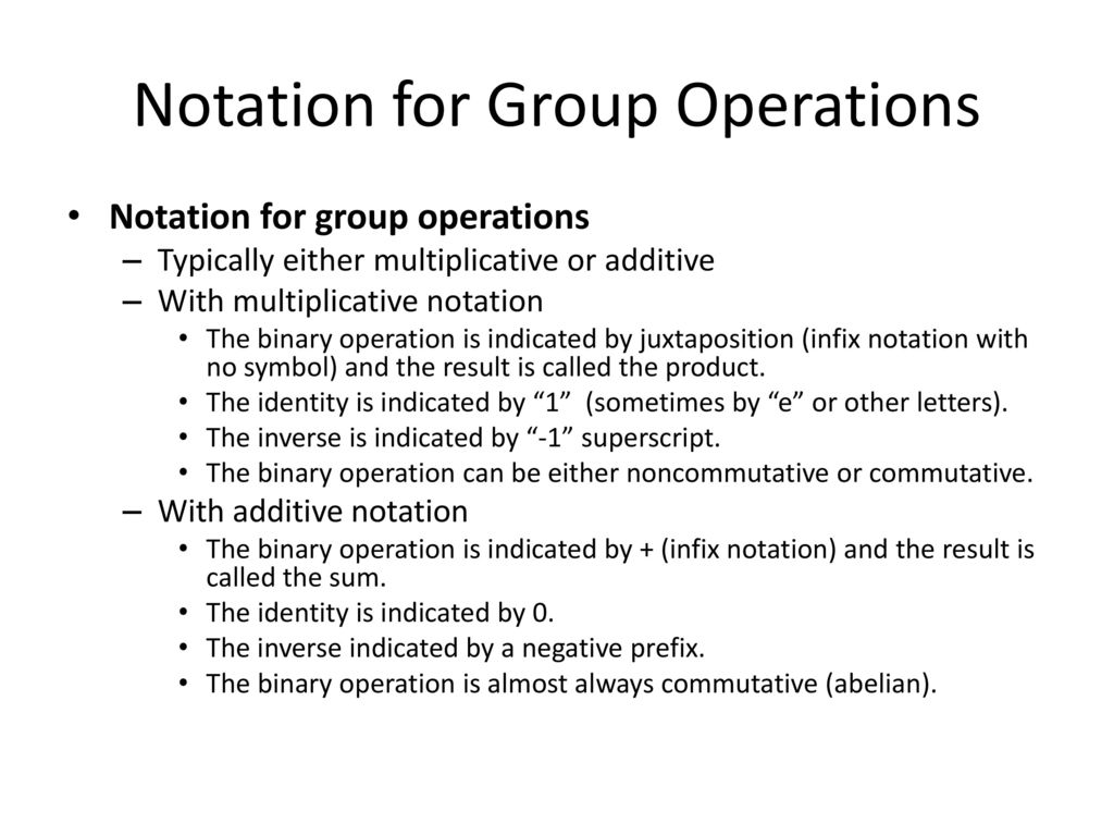 Math 3121 abstract algebra i ppt download 4 notation for group operations buycottarizona