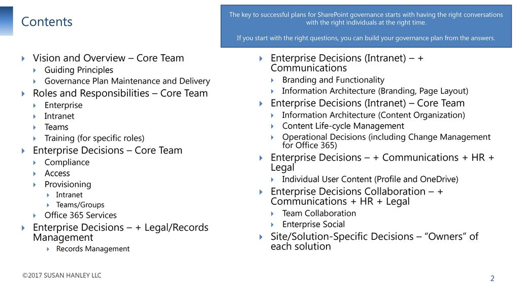 SharePoint/Office 365 Governance Questions - ppt download
