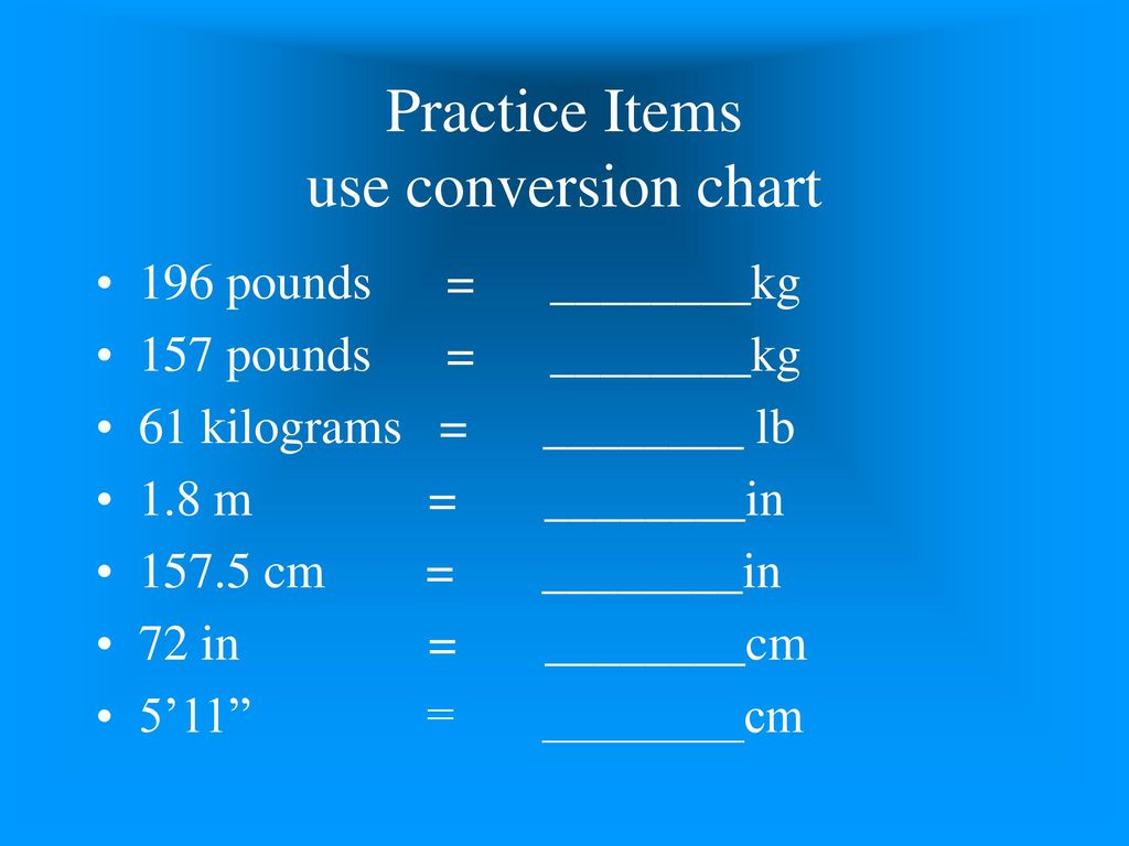 Introduction to medical math ppt download practice items use conversion chart nvjuhfo Image collections