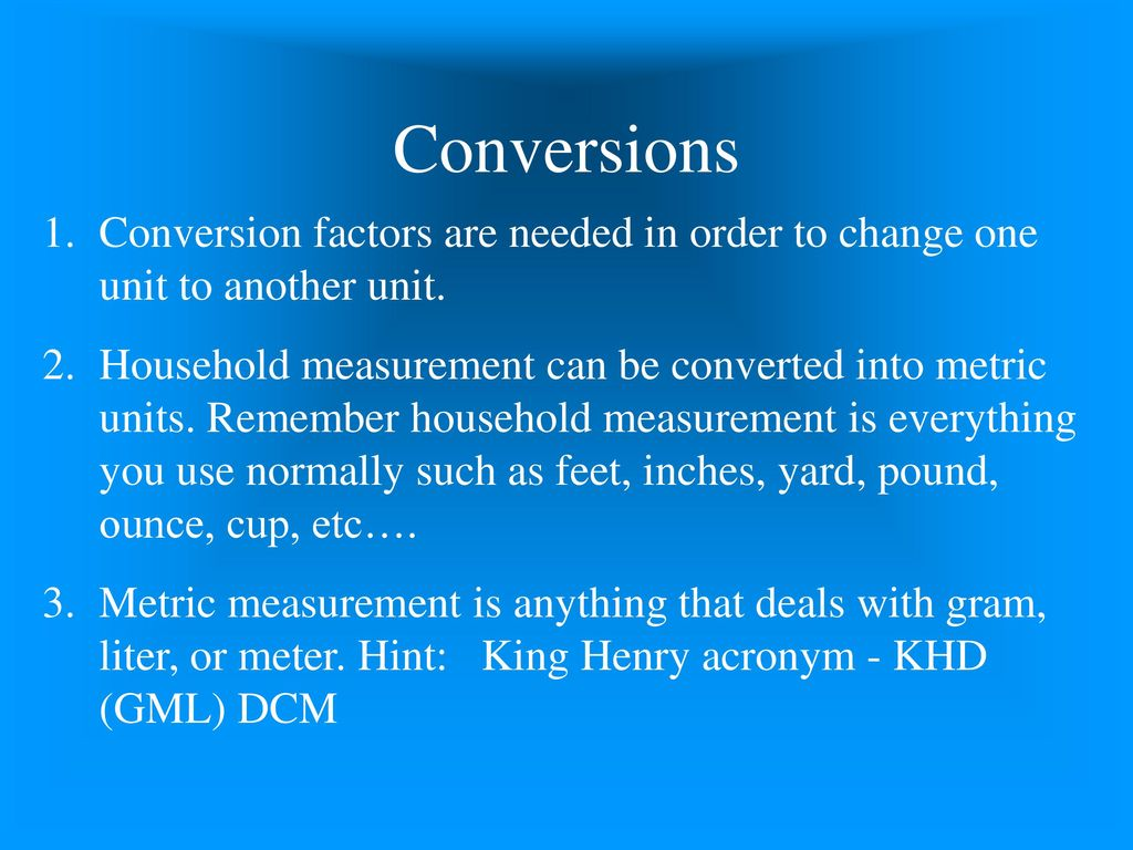 Introduction to medical math ppt download 3 conversions conversion nvjuhfo Gallery