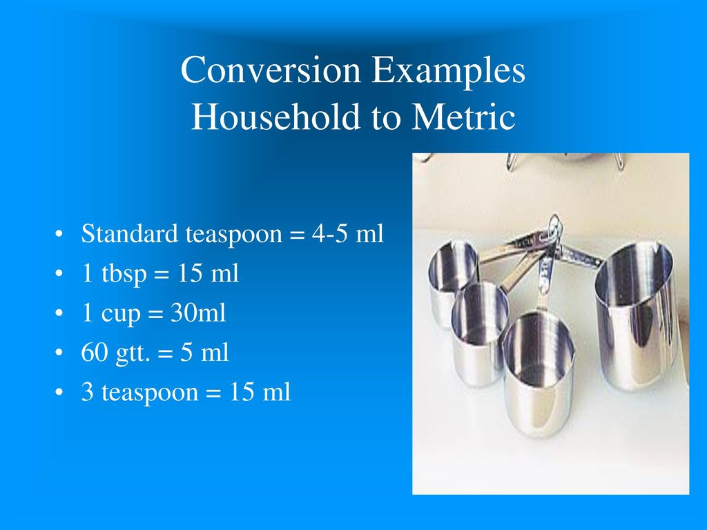 Introduction to medical math ppt download conversion examples household to metric nvjuhfo Image collections