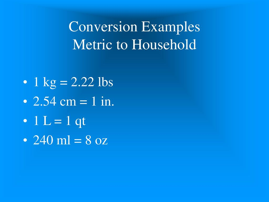 Introduction to medical math ppt download conversion examples metric to household nvjuhfo Image collections
