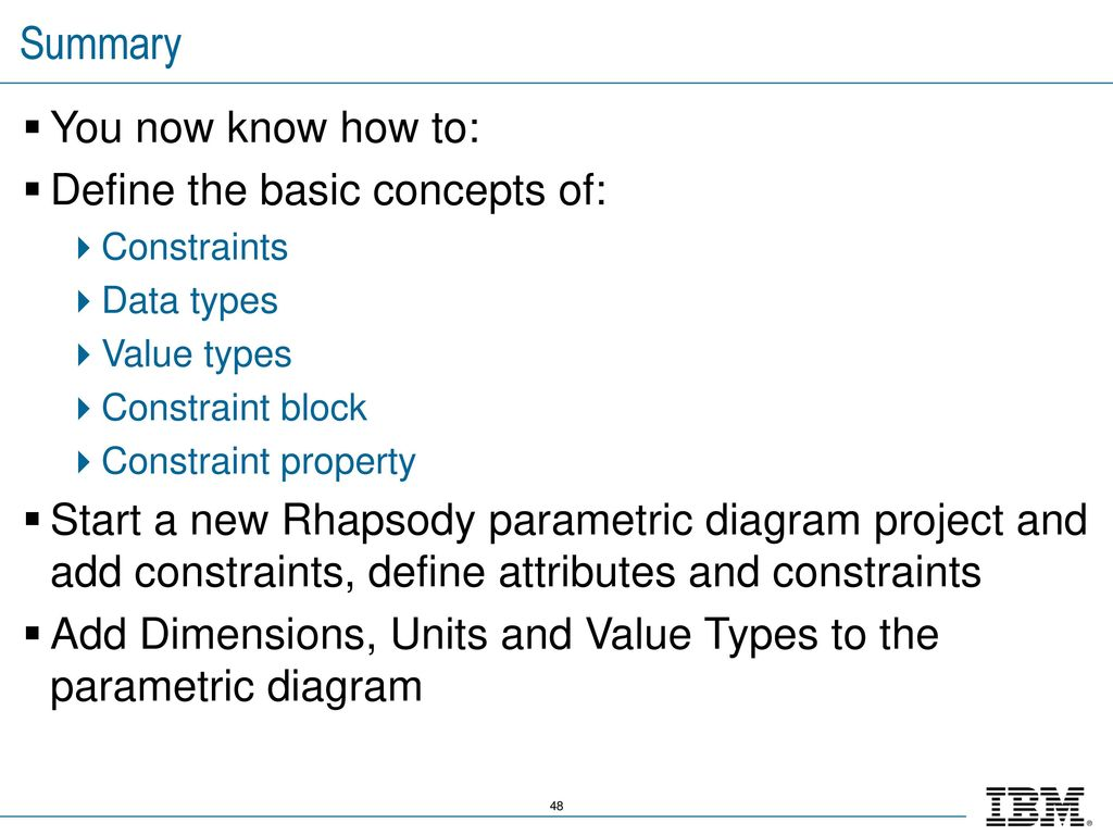 Ibm rational rhapsody advanced systems training v ppt download summary you now know how to define the basic concepts of ccuart Image collections