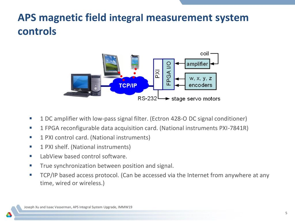 Pxi Data Acquisition System : New upgrade to the aps magnetic field integral measurement