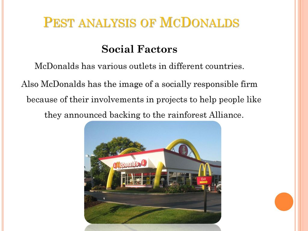 Pest analysis of mcdonalds in france