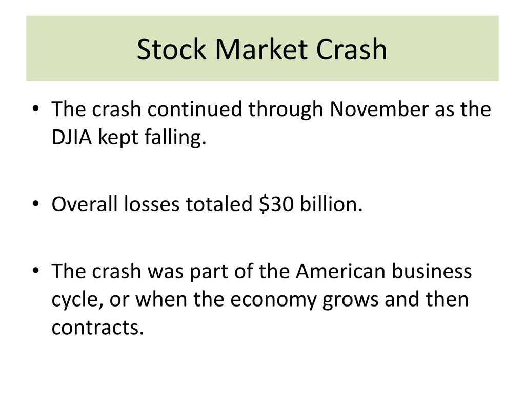 Djia Quote Great Depression And New Deal  Ppt Download