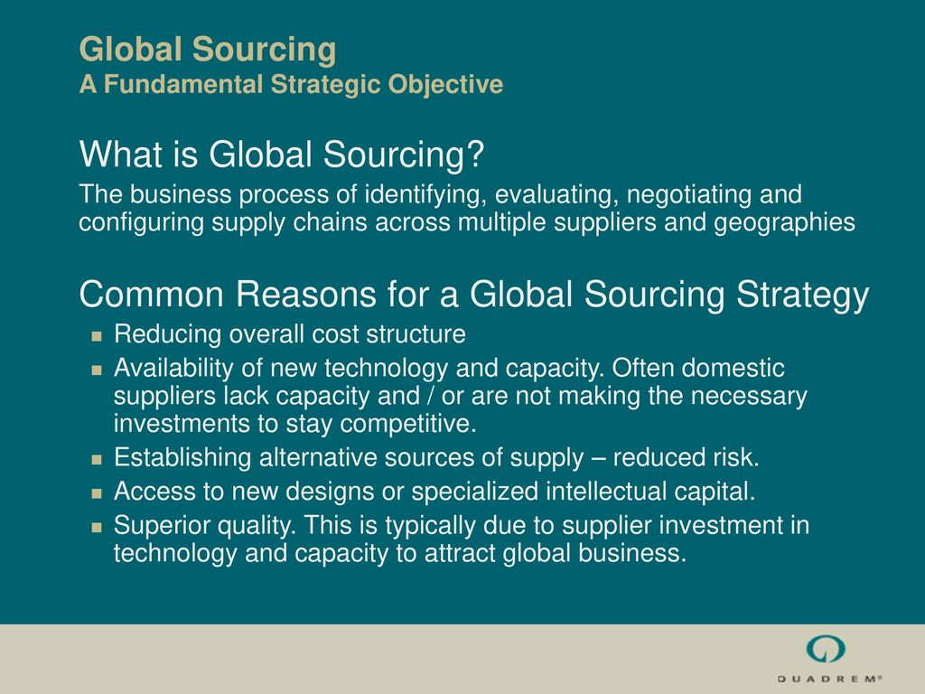 Building superior capabilities for strategic sourcing