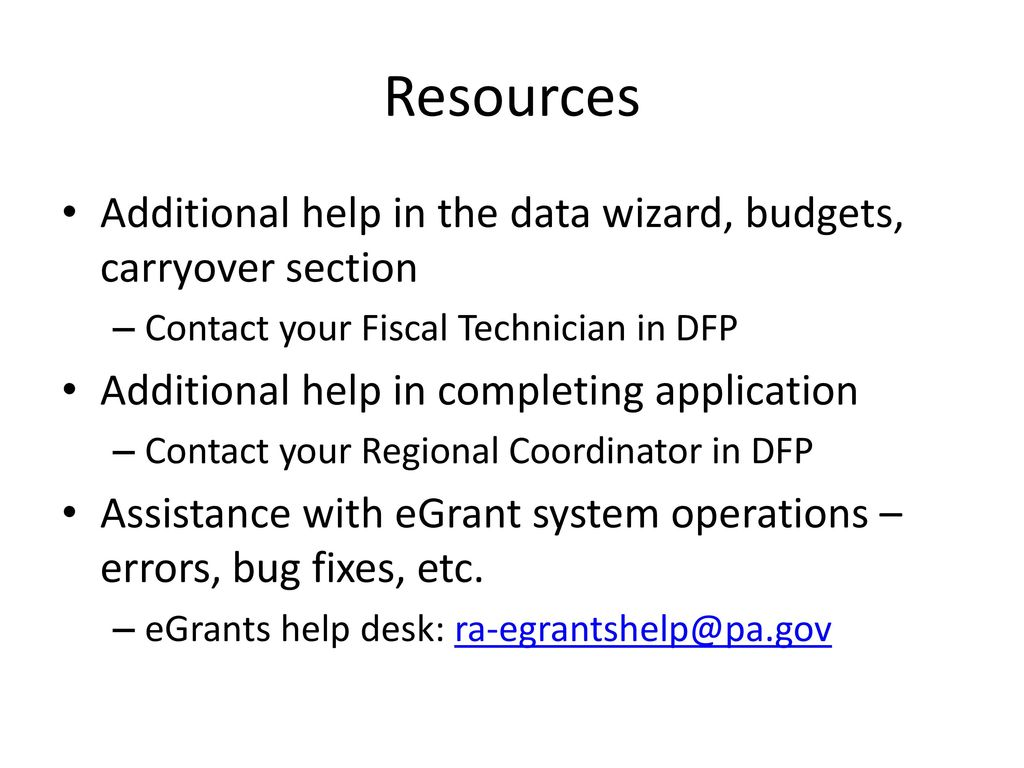 Changes To The Egrants System Ppt