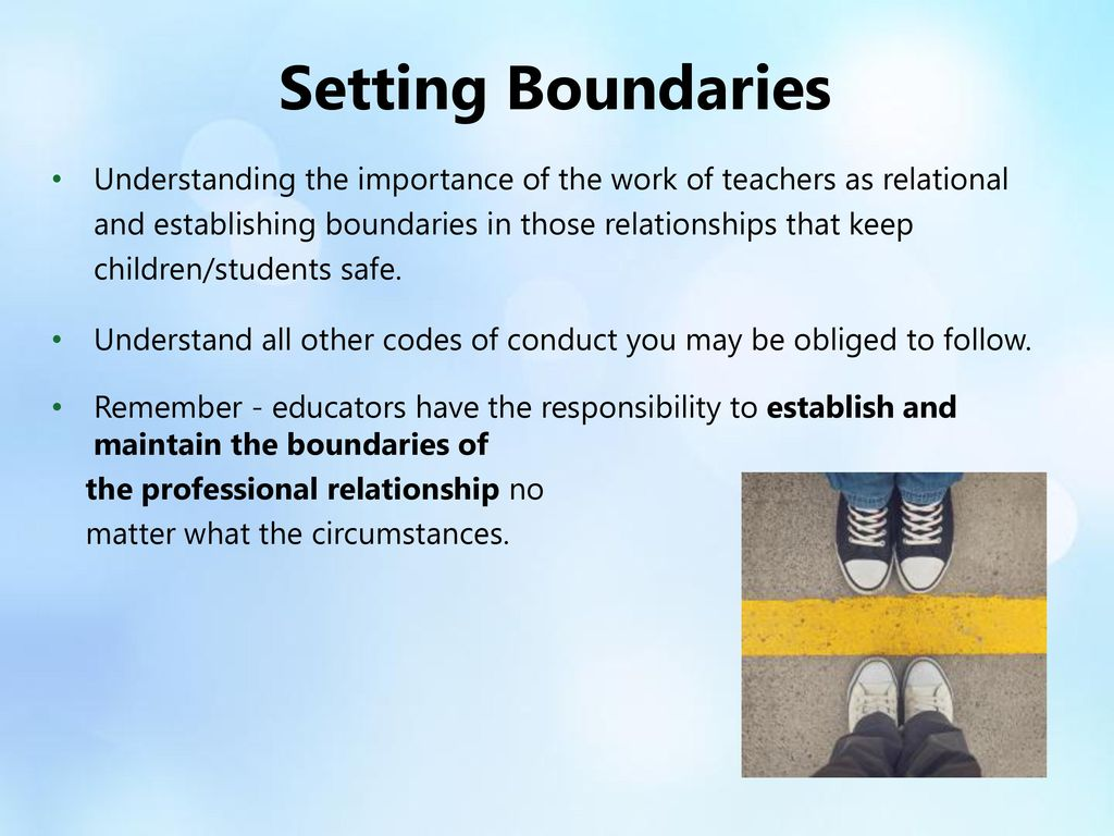Boundaries between Teachers and Other Professionals Paper