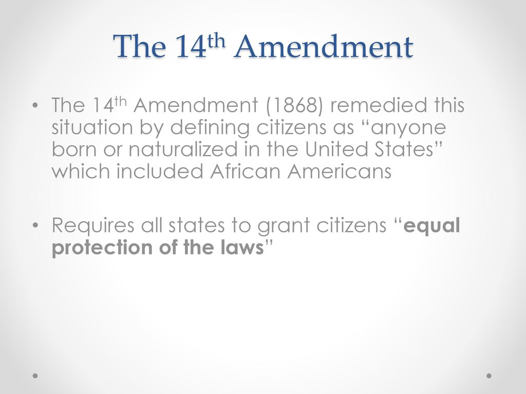 us amendment extended citizenship for african american slaves At the end of the american civil war congress passed the civil rights act of 1866 granting us citizenship to former slaves of the american civil war congress passed the civil rights amendments or extended their reach the fourteenth amendment for example, extended most of the bill.