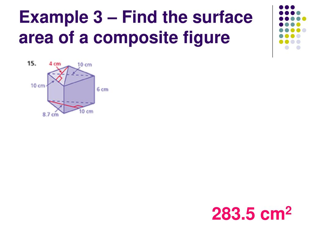 worksheet Surface Area Of Composite Figures Worksheet surface area of pyramids ppt download example 3 find the a composite figure