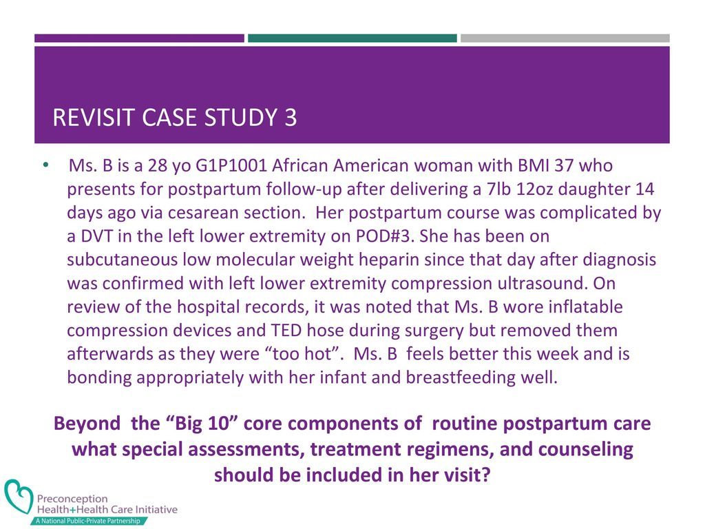 postpartum case study Essays & papers post partum hesi case study - paper example  postpartum protocol requires that the nurse assess marie's vital signs, fundus, perineum, vaginal bleeding, pain, leg movement, and iv every 15 minutes for the first hour and then every hour for the next three hours 4.