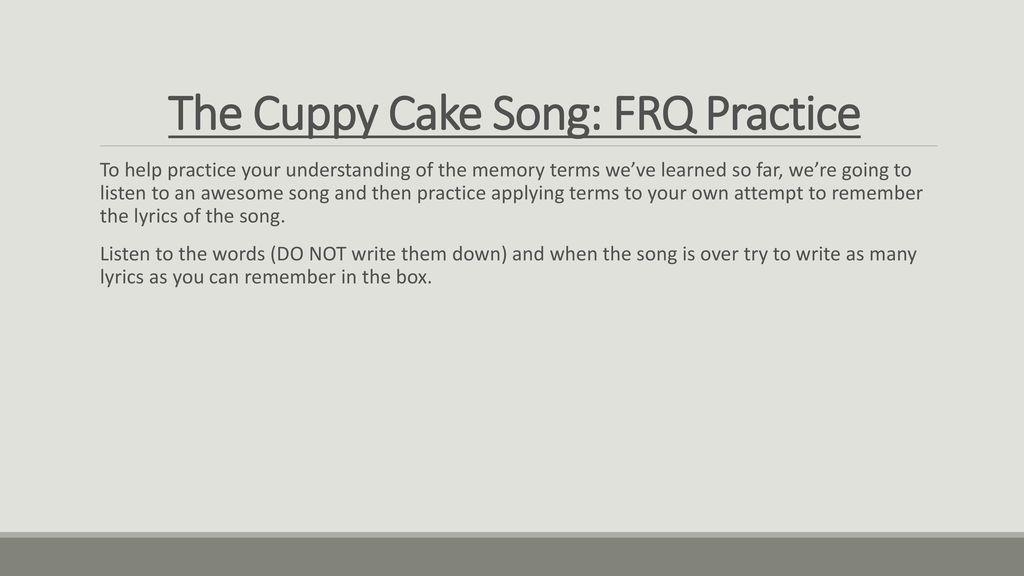 Cuppycake Cuppy Cake Song Lyrics - lyricsowl.com