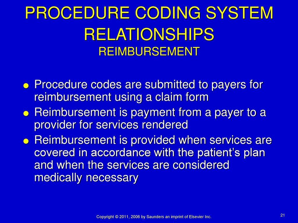 Chapter 8 procedure coding coding procedures services and items procedure coding system relationships reimbursement falaconquin