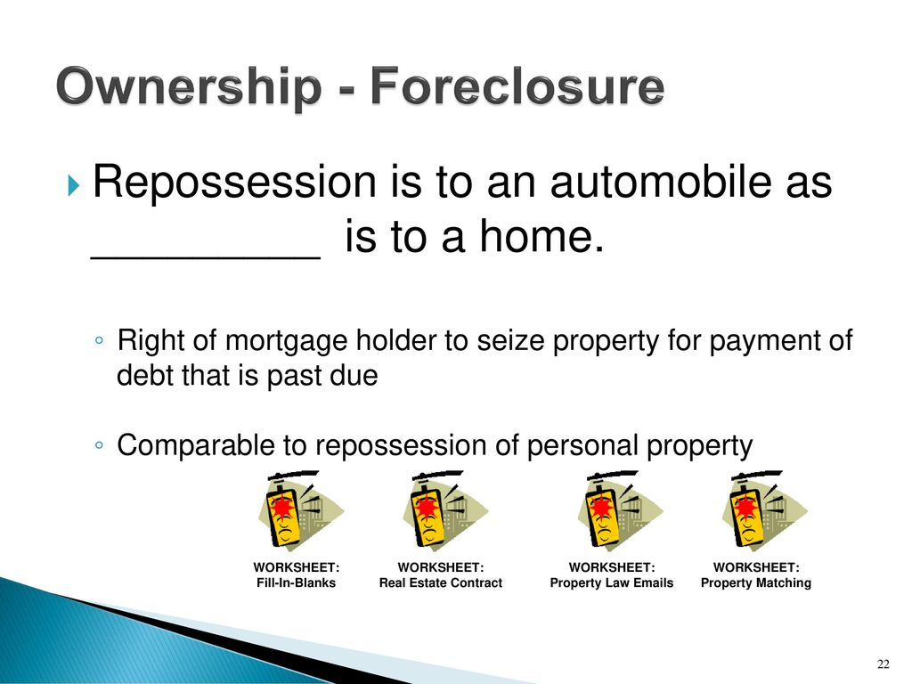 worksheet Worksheet For Foreclosures And Repossessions understand sales consumer property and cyber laws ppt download ownership foreclosure