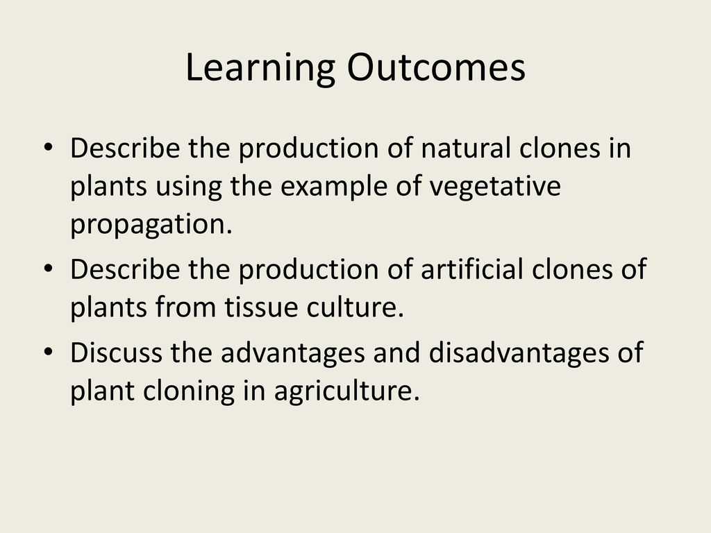 an introduction to the advantages and disadvantages of cloning Cloning: definitions and applications: human reproductive cloning is an assisted   there is a need to show that the cells derived from introduced adult stem cells   the es cells made with nuclear transplantation would have the advantage  over  this work has the disadvantage that it would require the use of donor  eggs.