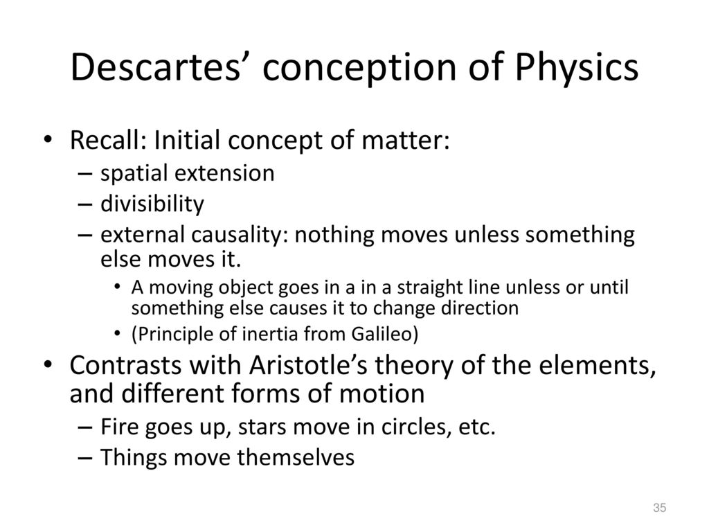 descartes divisibility For descartes, this seemed to be  my body is divisible, it has parts divisibility is part of what it  dualism title: microsoft powerpoint - descartes author.