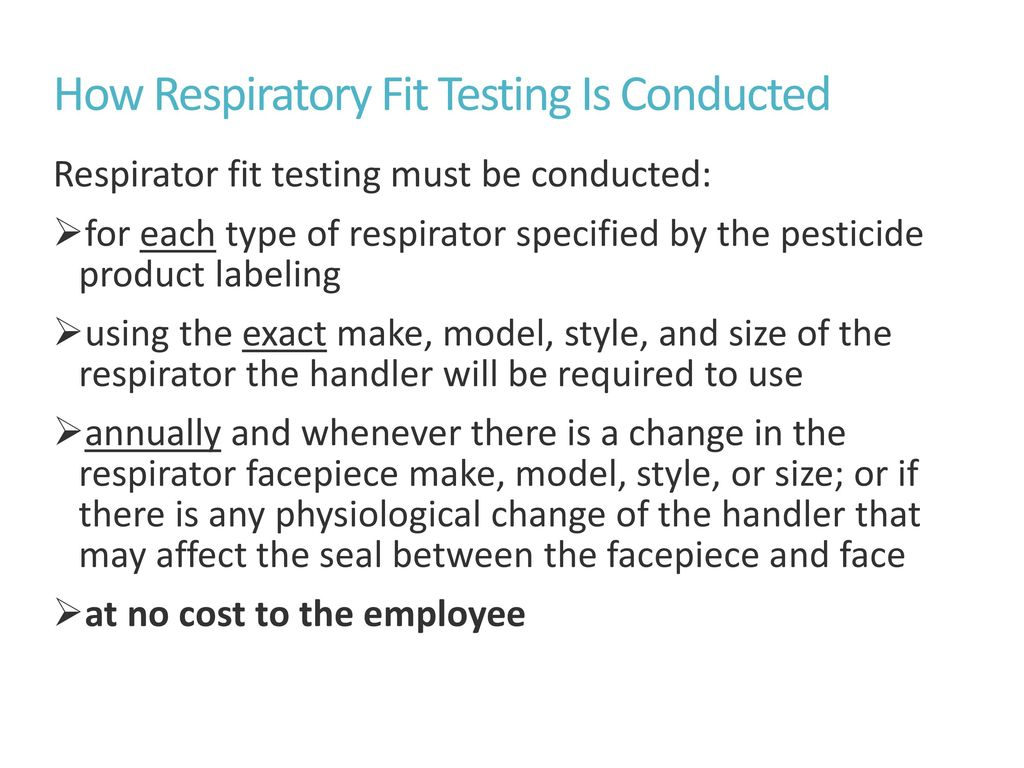 Respirator fit testing and medical clearance ppt download how respiratory fit testing is conducted 1betcityfo Choice Image