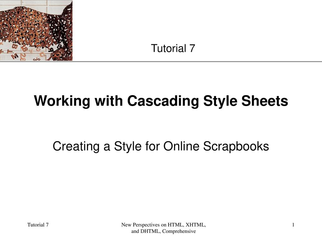 Working With Cascading Style Sheets Ppt Video Online Download
