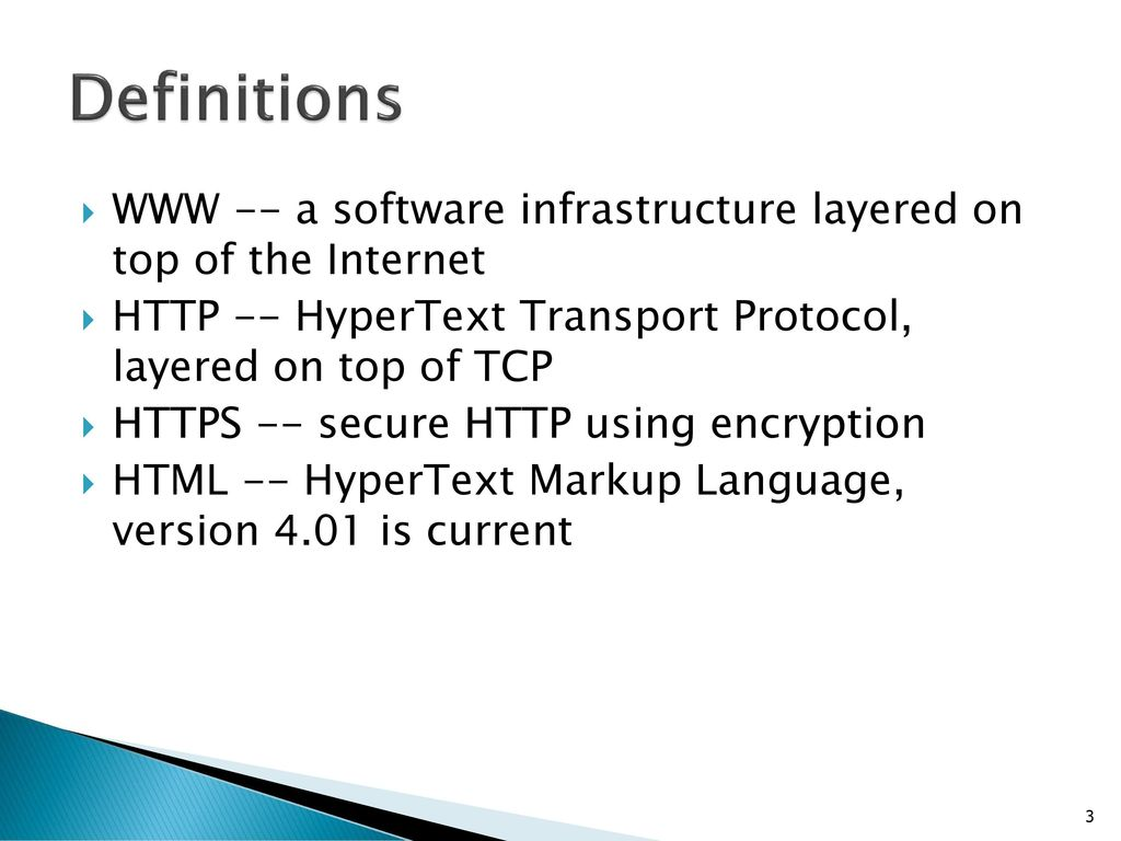 Htmlcss tutorial ppt download definitions www a software infrastructure layered on top of the internet http baditri Gallery