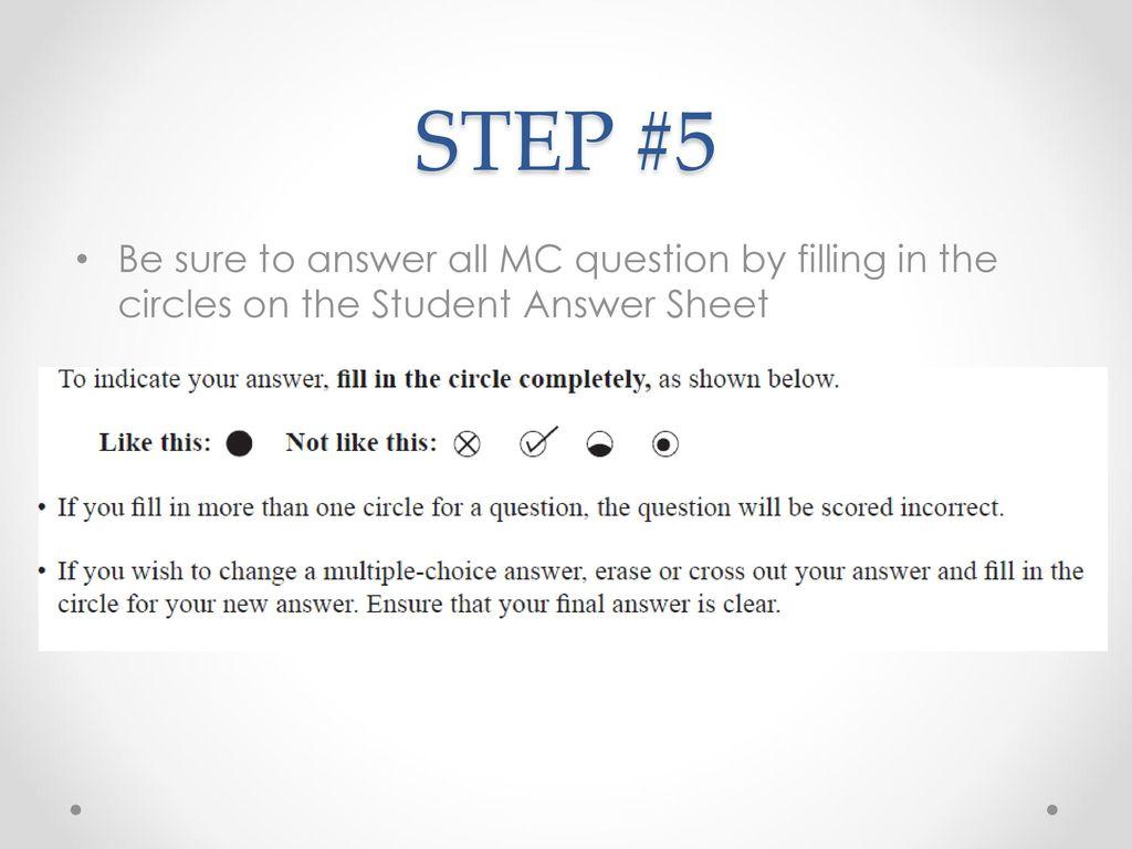 mc answer sheet