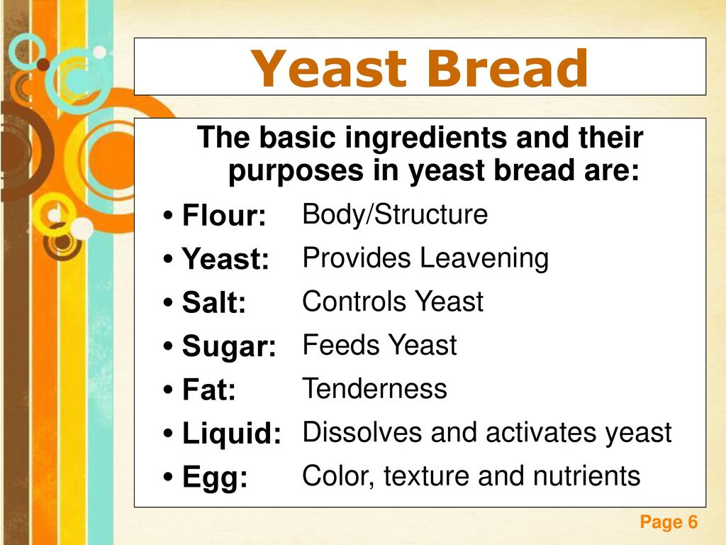 Breads free powerpoint templates ppt download the basic ingredients and their purposes in yeast bread are toneelgroepblik Images