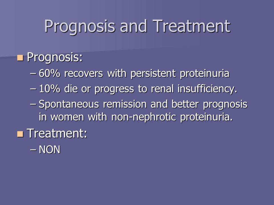 Prognosis and Treatment