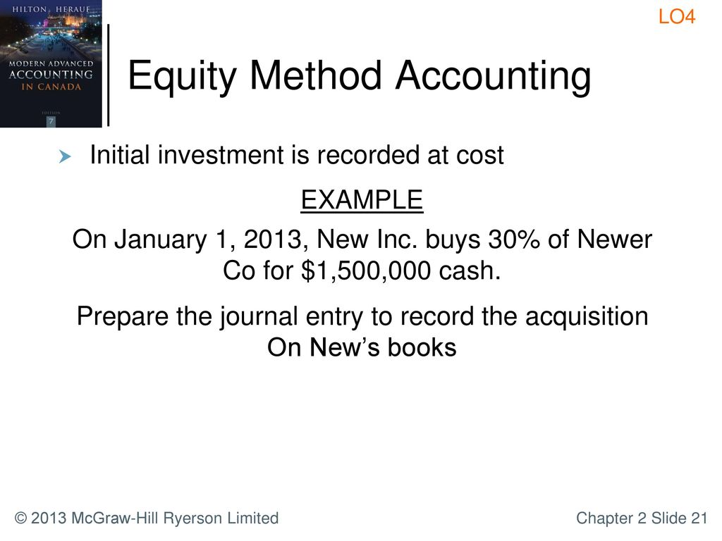 the equity method of accounting for Owned and controlled subsidiaries and the equity method for all  the statutory  equity method of accounting, as described in subparagraph 7.