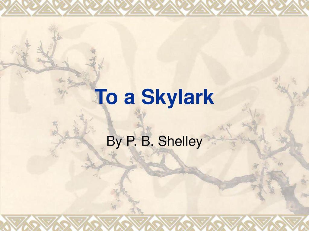 skylark poem william wordsworth